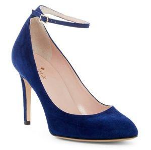 {KATE•SPADE} Dakota Suede Ankle Strap Pumps